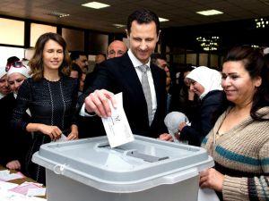 Suriye halkı sandık başında