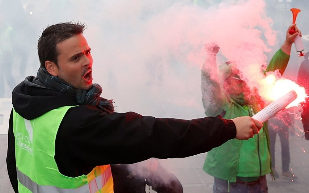 Belçika'da kamu çalışanları grevde galerisi resim 1