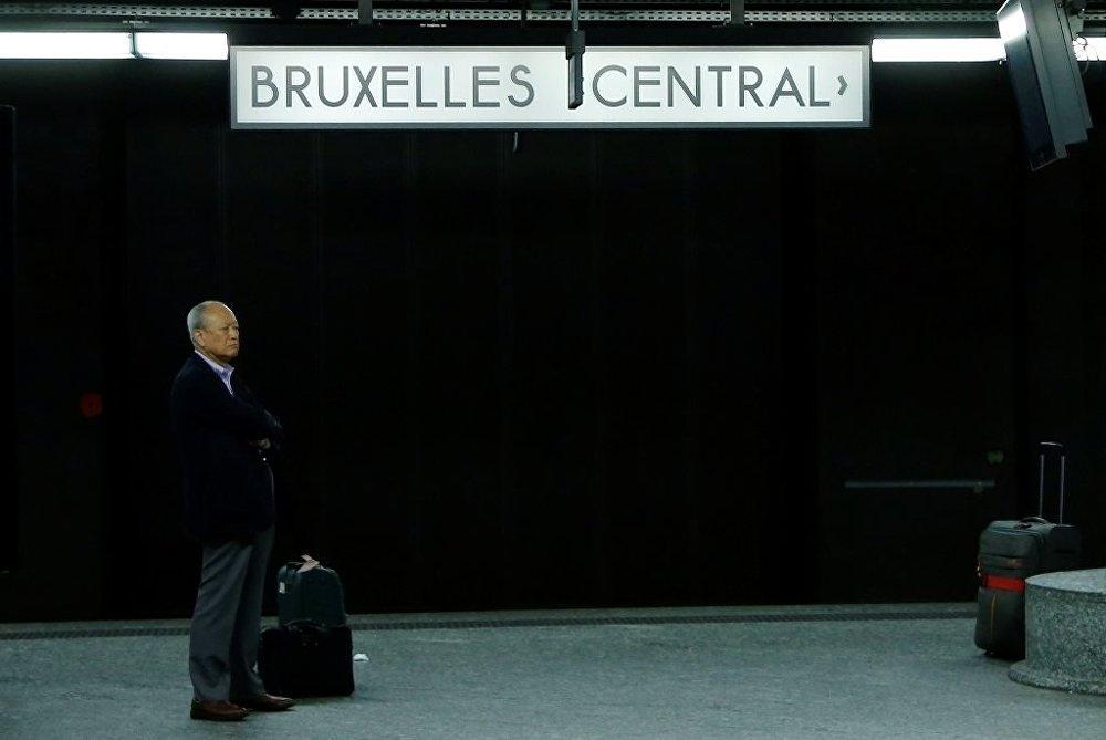 Belçika'da kamu çalışanları grevde galerisi resim 4
