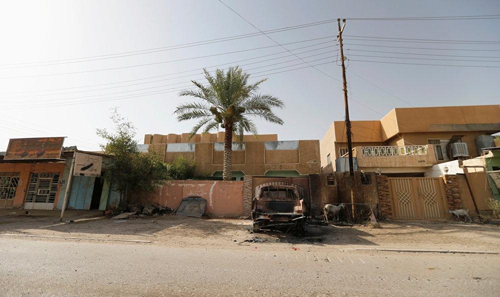 Irak'ın Anbar vilayetine bağlı Felluce'de Irak bayrağı dalgala galerisi resim 5