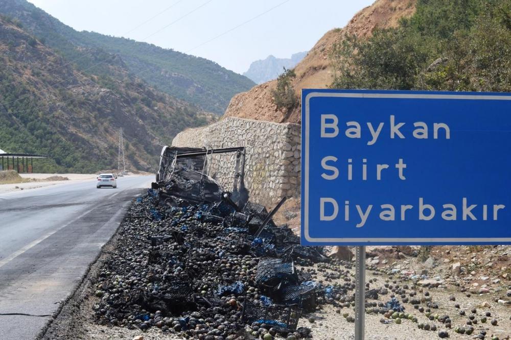 İşte PKK'nin Bitlis'te ateşe verdiği araçlar! galerisi resim 17