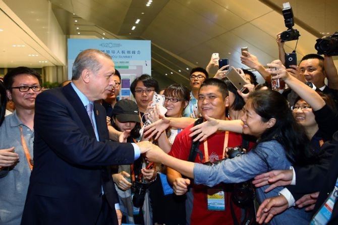 Cumhurbaşkanı Erdoğan Çin'de önemli mesajlar verdi galerisi resim 14