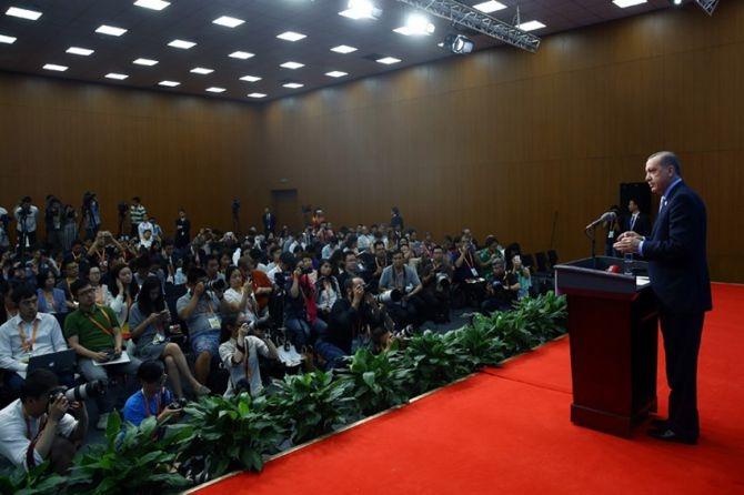 Cumhurbaşkanı Erdoğan Çin'de önemli mesajlar verdi galerisi resim 9