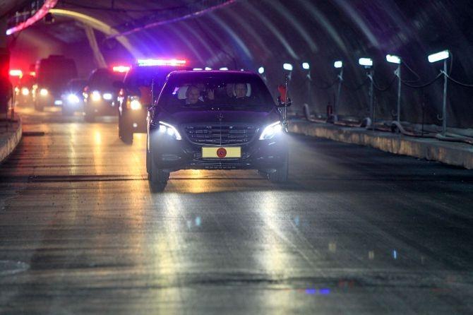 Cumhurbaşkanı Erdoğan Avrasya Tüneli'nden  geçti galerisi resim 13
