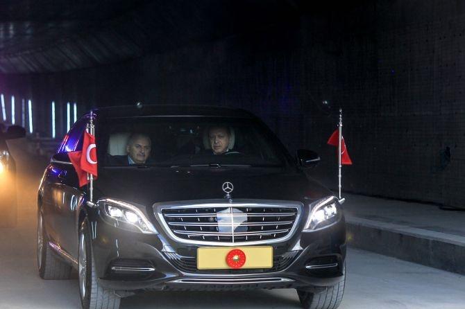 Cumhurbaşkanı Erdoğan Avrasya Tüneli'nden  geçti galerisi resim 15