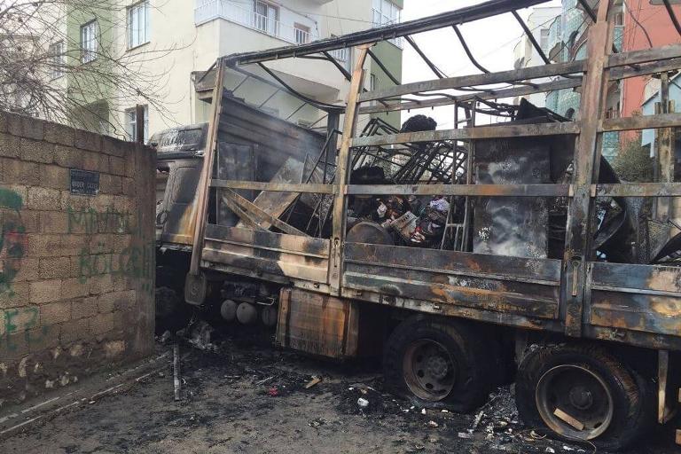 Mardin'de Polis aracına bombalı saldırı galerisi resim 18