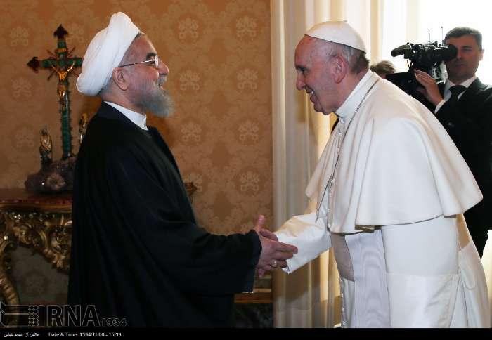 İran Cumhurbaşkanı Ruhanı ve Papa Francisus görüşmesinden kareler galerisi resim 13