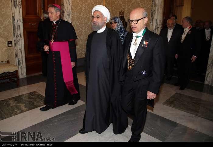 İran Cumhurbaşkanı Ruhanı ve Papa Francisus görüşmesinden kareler galerisi resim 18