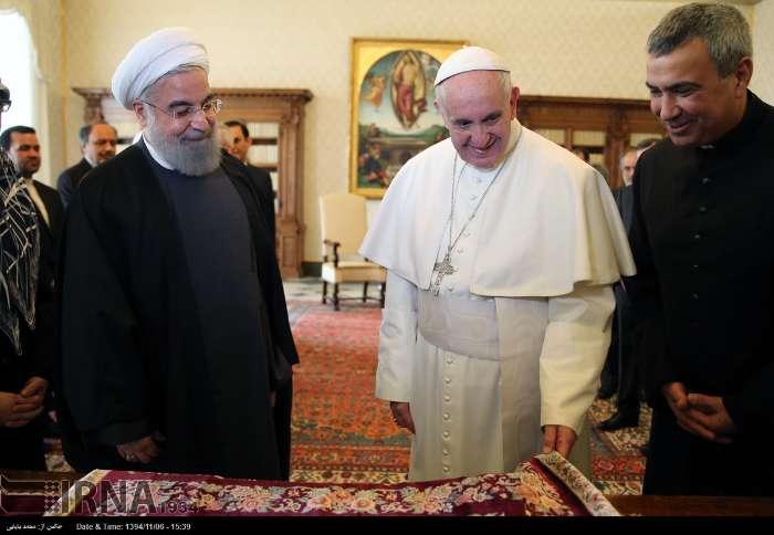 İran Cumhurbaşkanı Ruhanı ve Papa Francisus görüşmesinden kareler galerisi resim 22