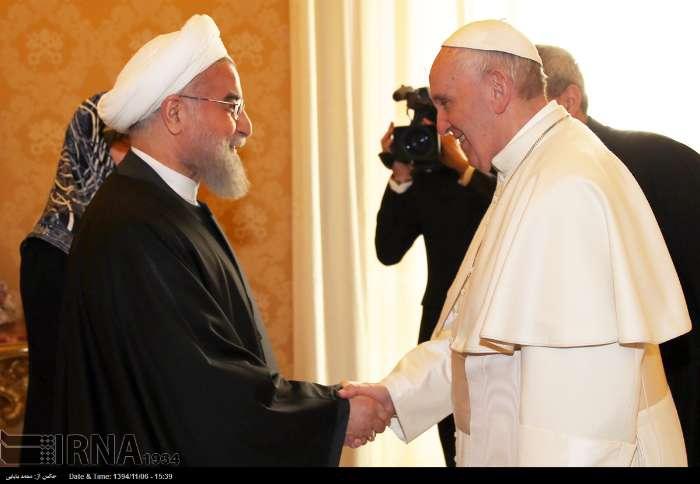 İran Cumhurbaşkanı Ruhanı ve Papa Francisus görüşmesinden kareler galerisi resim 4