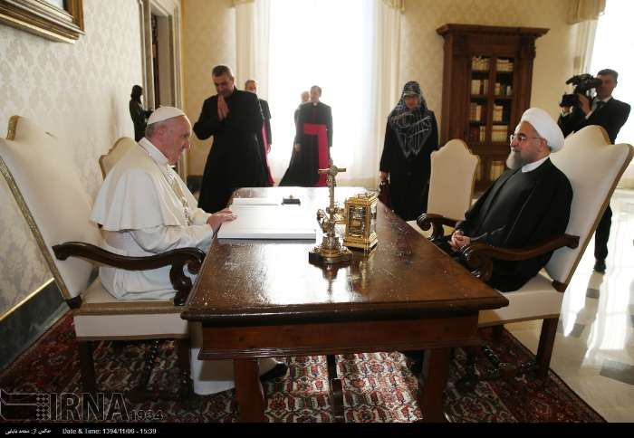 İran Cumhurbaşkanı Ruhanı ve Papa Francisus görüşmesinden kareler galerisi resim 6
