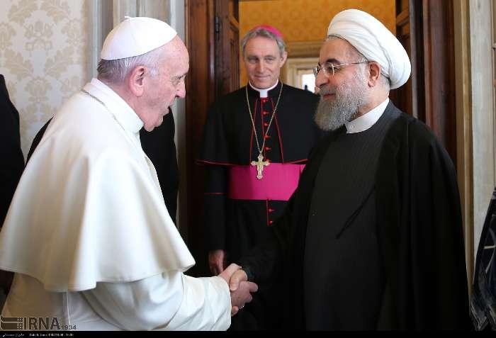 İran Cumhurbaşkanı Ruhanı ve Papa Francisus görüşmesinden kareler galerisi resim 8
