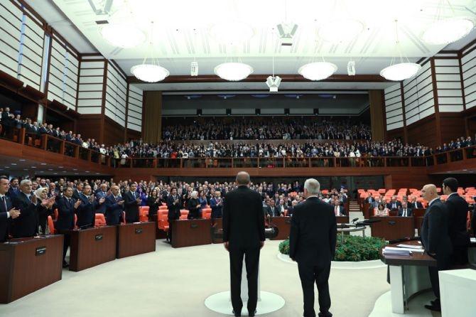 Cumhurbaşkanı Erdoğan, TBMM Genel Kurulu'nda yemin ederek göreve başladı galerisi resim 1