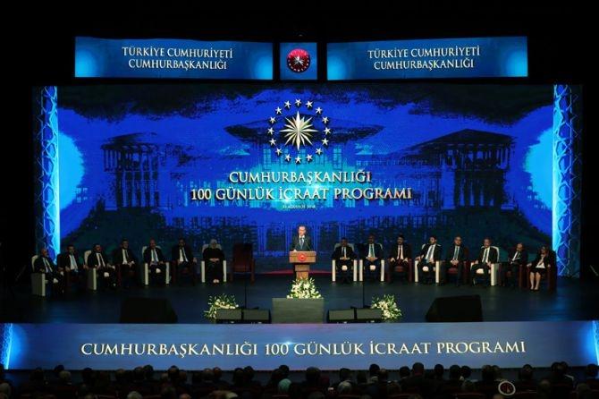 Cumhurbaşkanı Erdoğan, 100 günlük icraat programını açıkladı galerisi resim 1