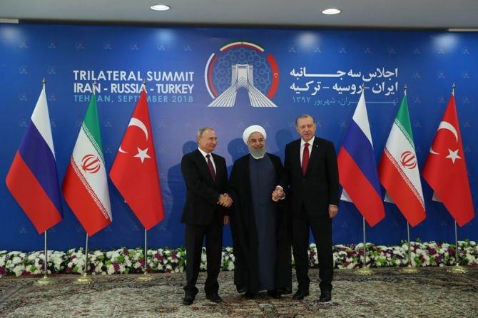 Türkiye-Rusya-İran Zirvesi Tahran'da toplandı galerisi resim 1