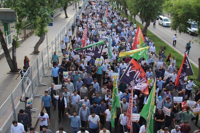 """Diyarbakır """"Özgür Kudüs"""" için yürüdü galerisi resim 8"""