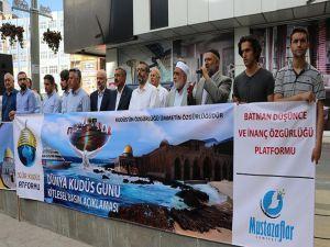 """Batman STK'ları: """"Kudüs'ün hürriyeti için mücadele etmeliyiz"""""""