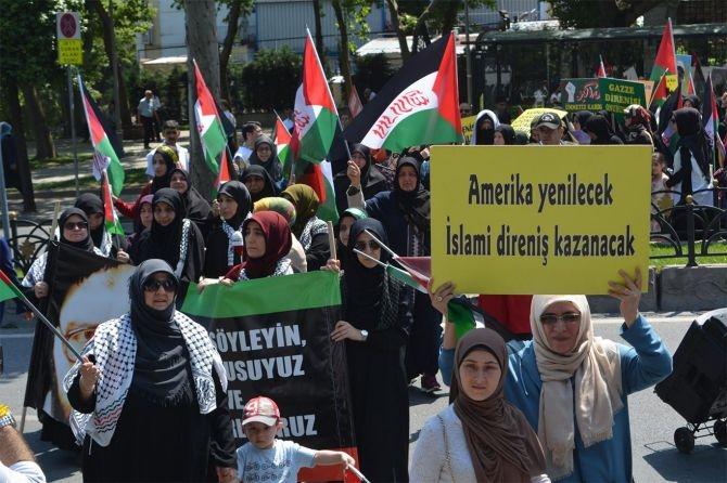 """İstanbul """"Dünya Kudüs Günü"""" için yürüdü galerisi resim 7"""