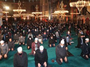 Ayasofya Camii'nde Regaib Gecesi ihya edildi