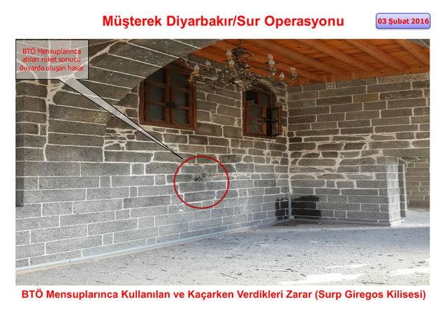 PKK Sur'daki tarihi eserleri yok etti galerisi resim 1