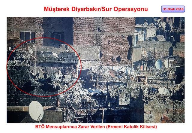 PKK Sur'daki tarihi eserleri yok etti galerisi resim 14