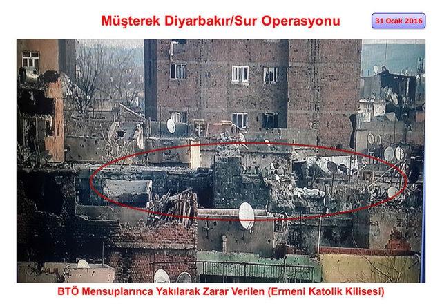 PKK Sur'daki tarihi eserleri yok etti galerisi resim 3