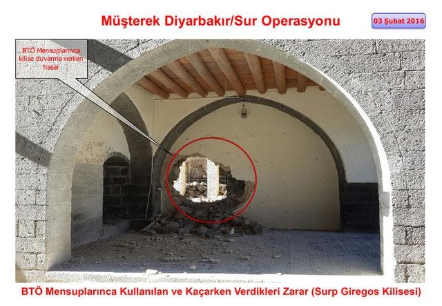 PKK Sur'daki tarihi eserleri yok etti galerisi resim 4