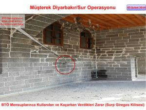 PKK Sur'daki tarihi eserleri yok etti
