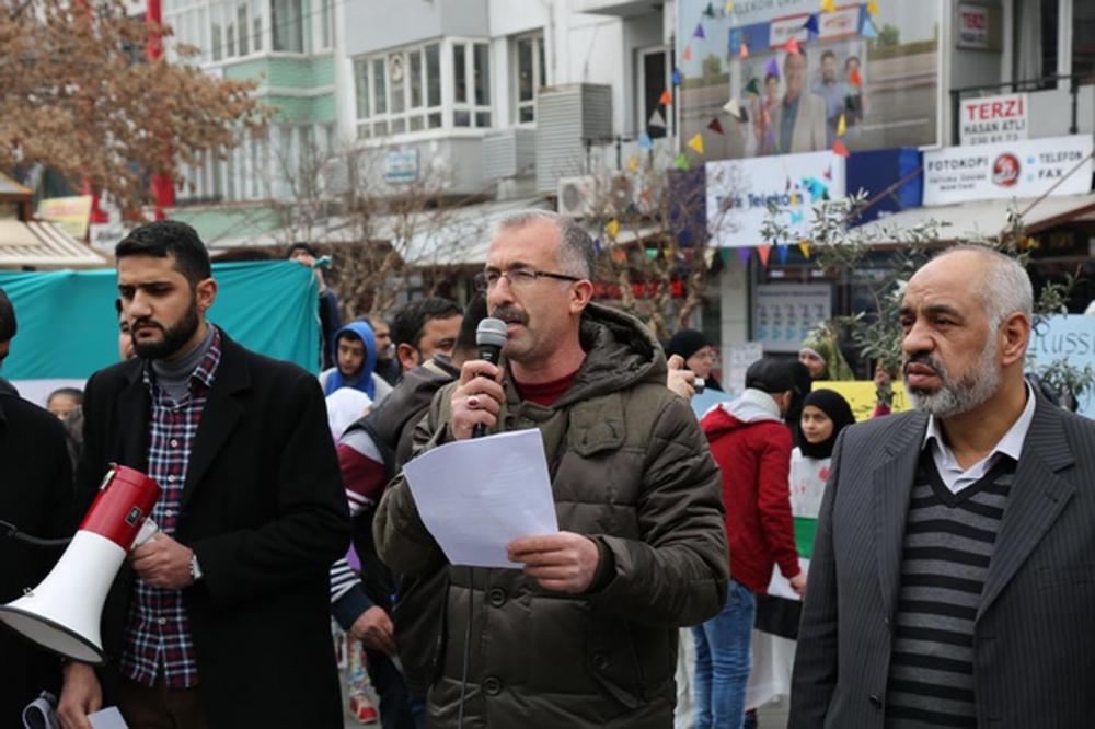 Gaziantep'te sığınmacılar Rusya'yı protesto etti galerisi resim 4