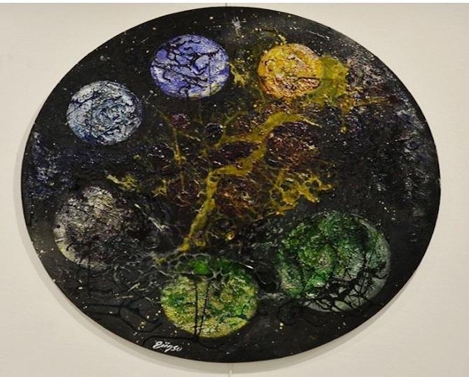 """Ressam Günsu sanatseverleri """"Düş Bahçesi""""'n de buluşturdu galerisi resim 2"""