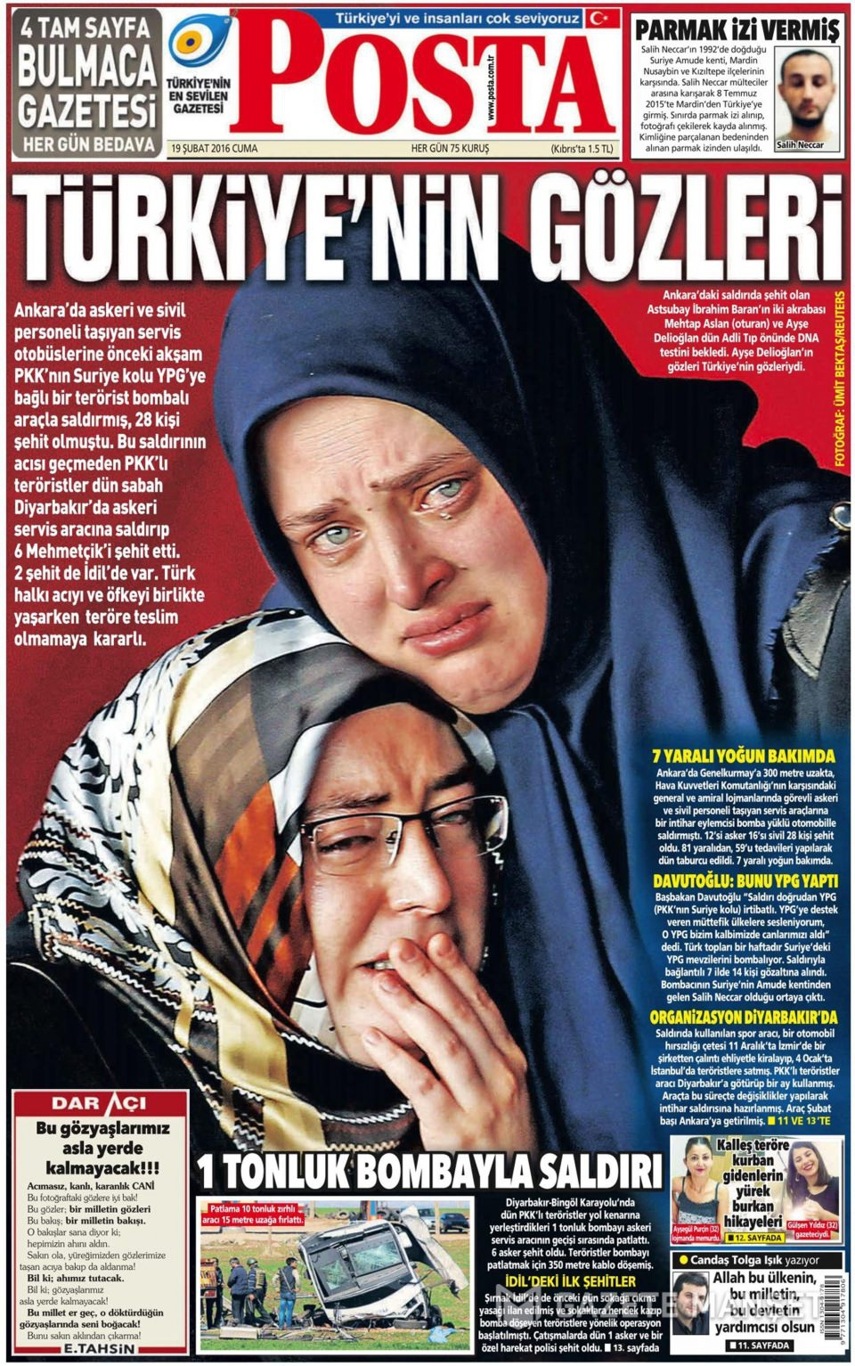 19 Şubat 2016 Günü gazete manşetleri galerisi resim 2