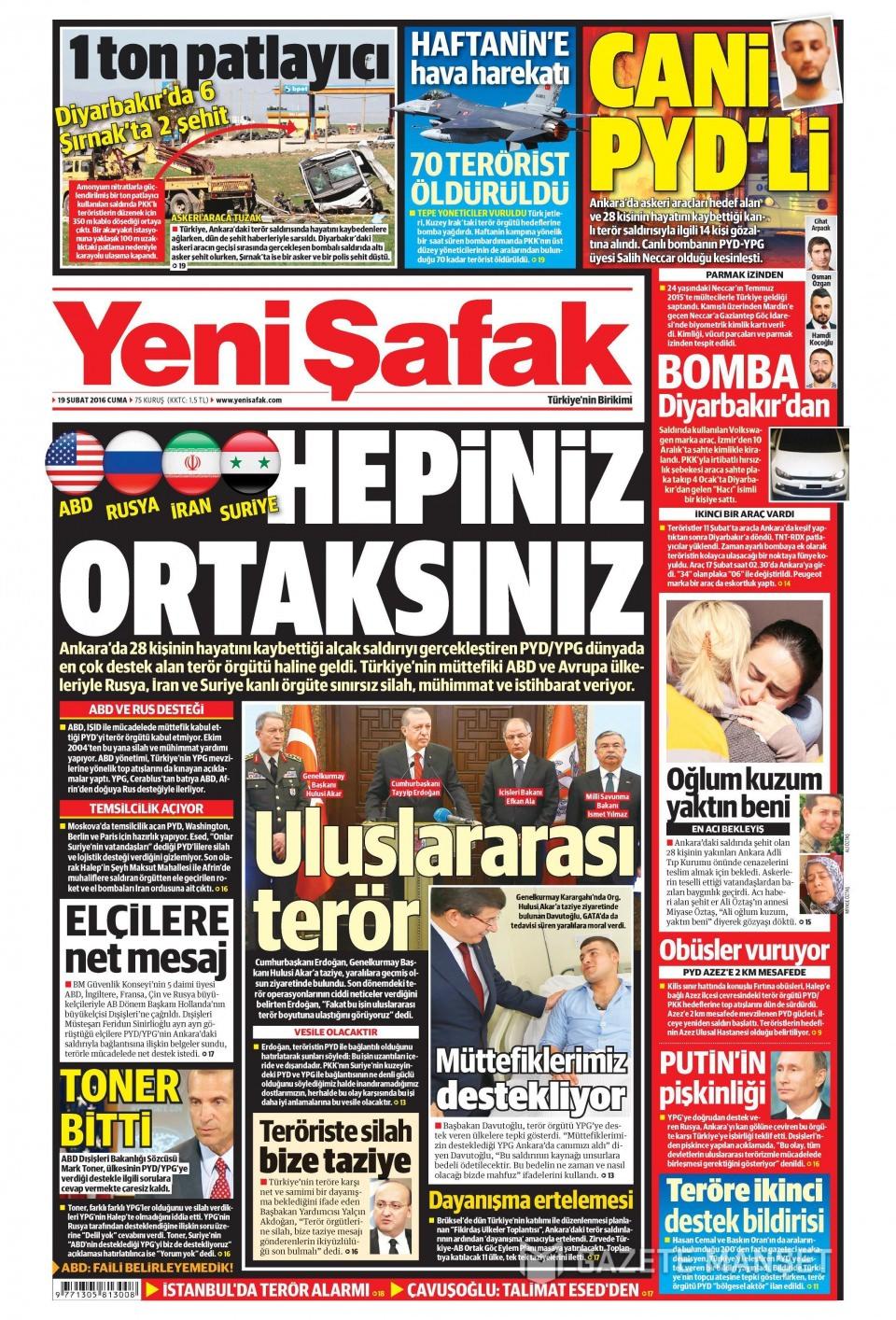 19 Şubat 2016 Günü gazete manşetleri galerisi resim 26