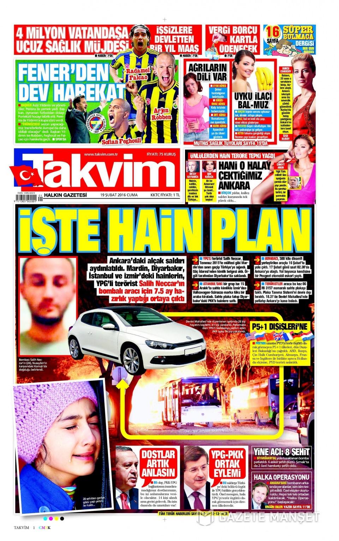 19 Şubat 2016 Günü gazete manşetleri galerisi resim 31