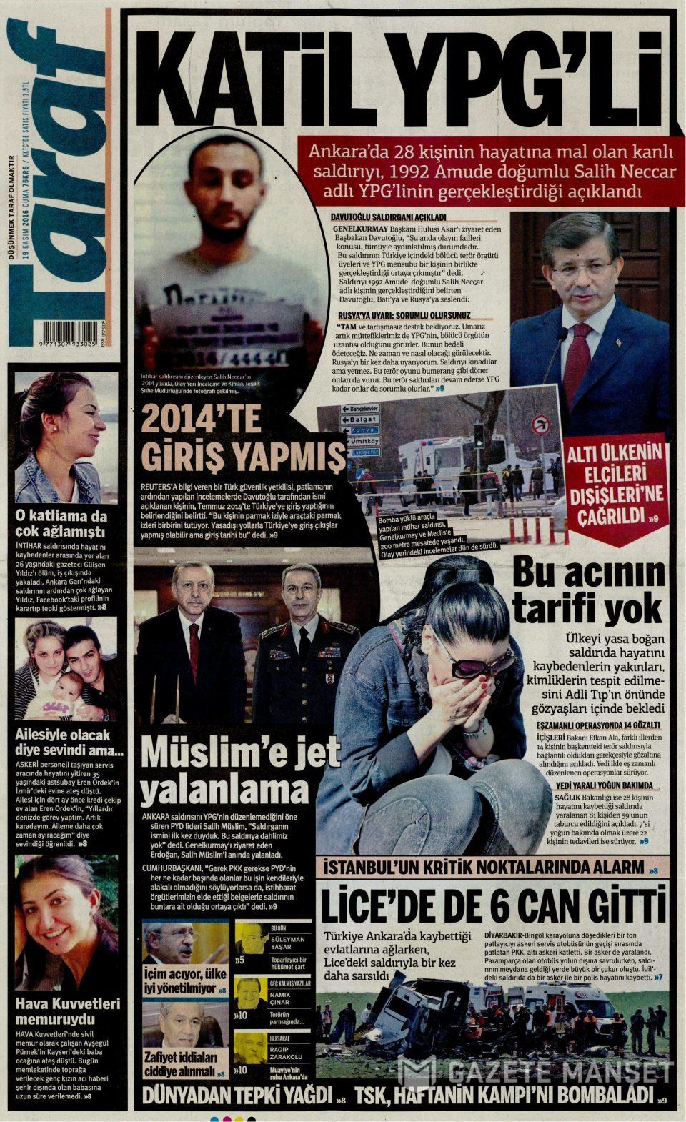 19 Şubat 2016 Günü gazete manşetleri galerisi resim 5