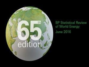 2016 BP Dünya Enerji İstatistikleri Raporu yayınlandı