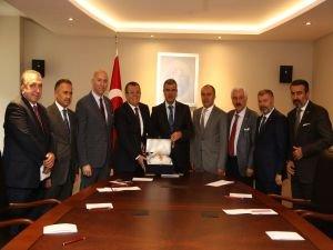 ATO yönetiminden Başbakan Yardımcısı Veysi Kaynak'a ziyaret