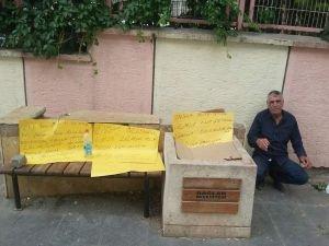 Belediye işçisi açlık grevi eylemi başlattı!