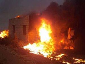 Anız yangını 4 evi küle çevirdi