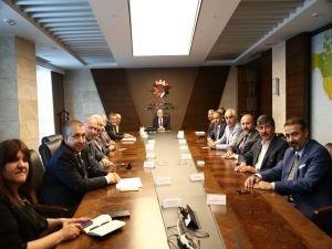ATO yönetiminden Bakan Özlü'ye ziyaret