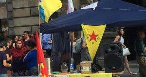 Avusturya'nın başkenti Viyana'da PKK standı açıldı