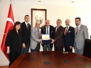 ATO yönetiminden Başbakan Yardımcısı Tuğrul Türkeş'e ziyaret