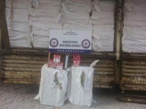 21 ton kaçak nargile tütünü ele geçirildi