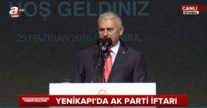Başbakan Yıldırım konuşuyor