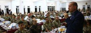 Cumhurbaşkanı Erdoğan Silopi'de askerlerle iftar yaptı