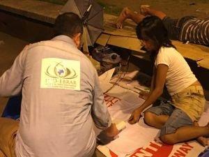 Filipinler'de ki evsizlere İHO-EBRAR'dan sıcak yemek