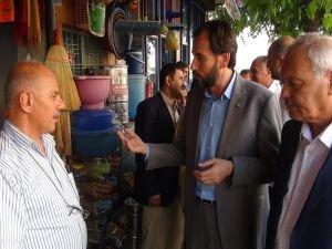 HÜDA PAR PKK saldırısında zarar gören halkı ziyaret etti