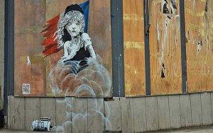 Banksy'den 'Göçmenlere biber gazı' resmine tepki