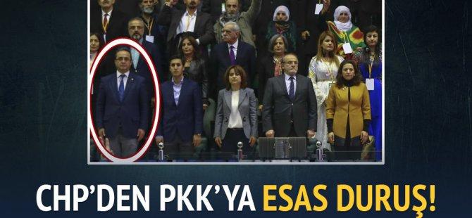 HDP kongresinde CHP'den PKK marşına esas duruş