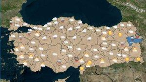 Türkiye genelinde Meteoroloji'den Son Durumlar
