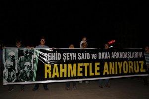 Diyarbakır'da Şeyh Said ve dava arkadaşları anıldı